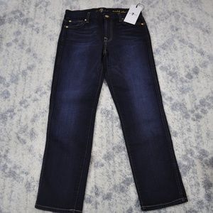 NWT 7 For All Mankind Ankle Straight - 25